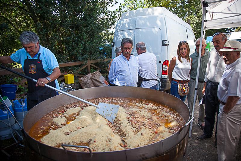 Miguel Angel Revilla en las Fiestas de Garzon en Solorzano 2018