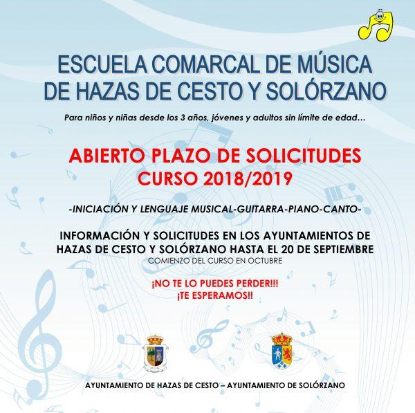 cartel escuela musica Solorzano
