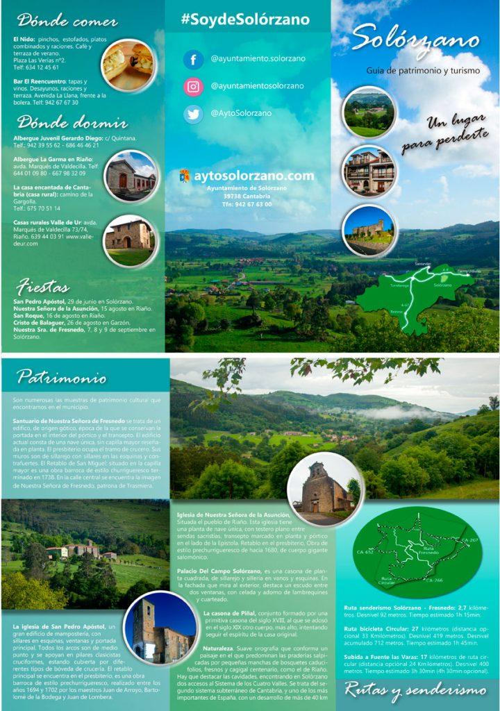 Tríptico de patrimonio y turismo de Solórzano